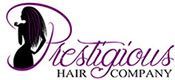 Prestigious Hair Company: An Extension of beauty! Logo